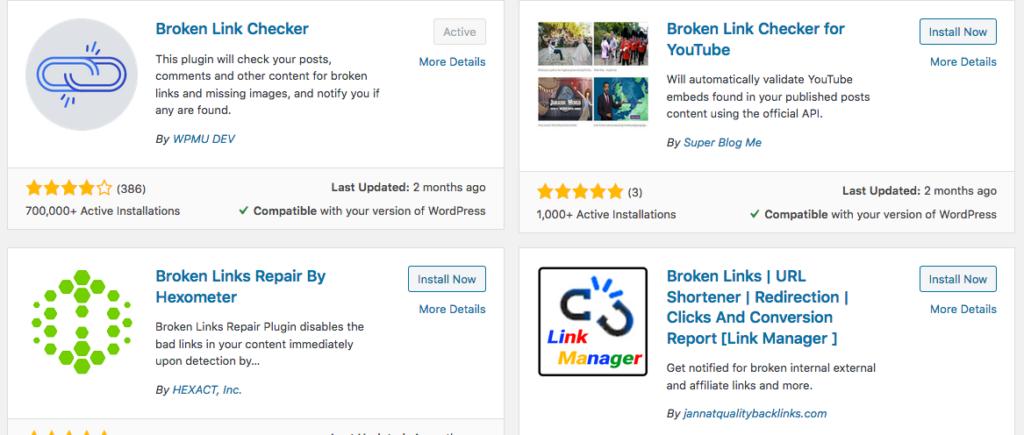 sampel contoh broken link checker apps plugins yang gratis dan berbayar